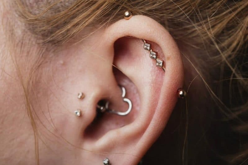 Double Tragus Piercing Jewelry Bar Ring And Pictures